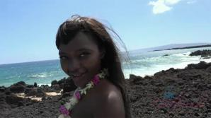 Noemie is finally in Hawaii with you.
